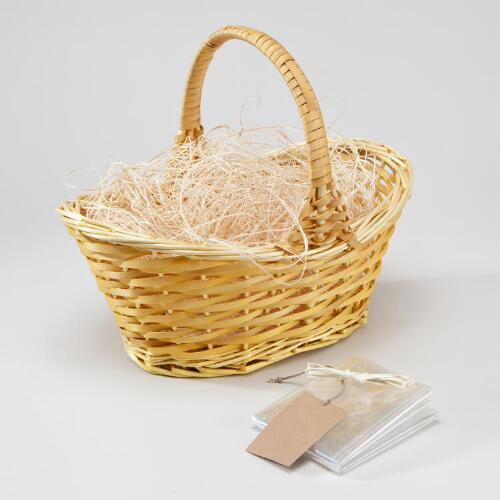 Yellow Gift Basket Kit with Handle