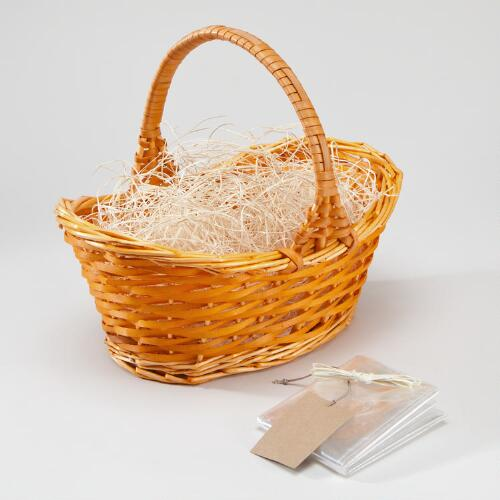 Orange Gift Basket Kit with Handle