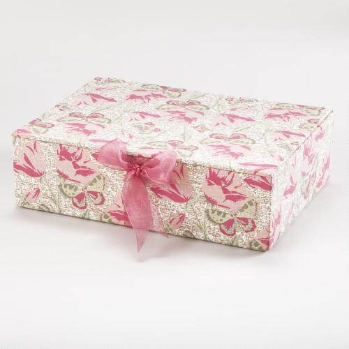 Spring Floral Fabric Gift Box