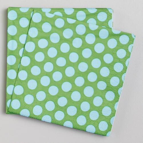 Green & Blue Beverage Napkins