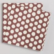Brown & White Beverage Napkins