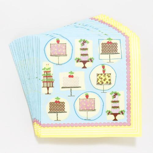All-Over Birthday Cakes Beverage Napkins
