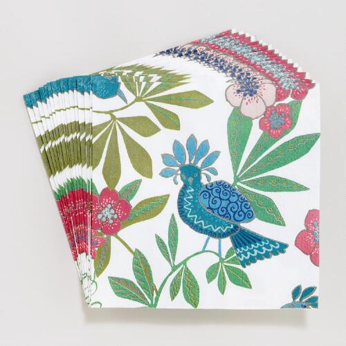Rio Birds Beverage Napkins