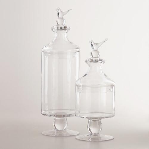Bird Apothecary Jars Collection