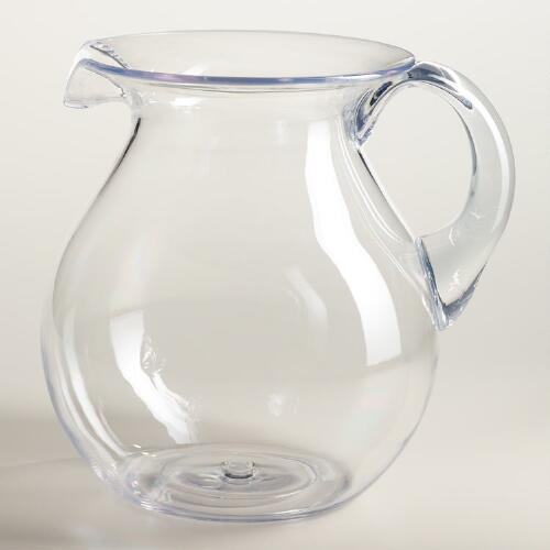 Large Clear Acrylic Pitcher