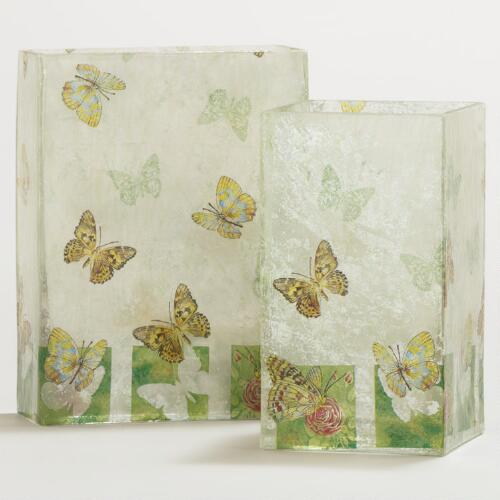 Foil Butterfly Vases Collection