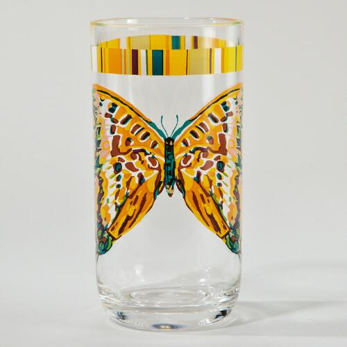Bali Butterfly Tumblers, Set of 2