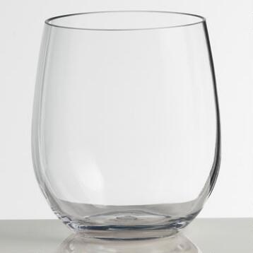 Clear Acrylic Stemless Tumblers, Set of 4