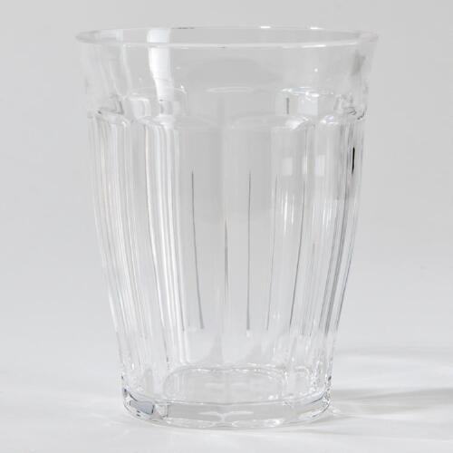 Clear Acrylic Double Old Fashioned Tumblers, Set of 4
