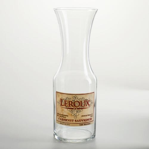Glass Vineyard Label Carafe