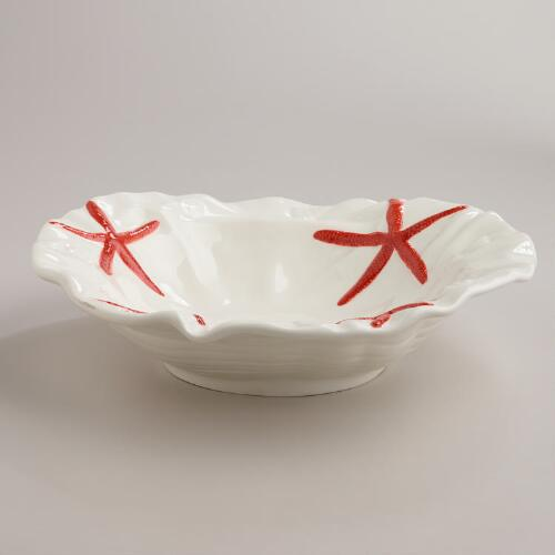 Coral Serving Bowl