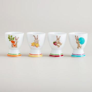 Bunny Egg Cups, Set of 4
