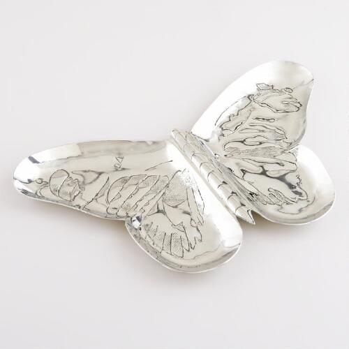 Metal Butterfly Tray