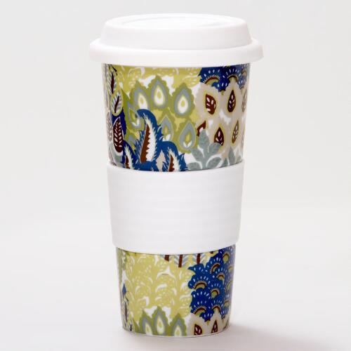 Feather Bouquet Non-Paper Latte Cup