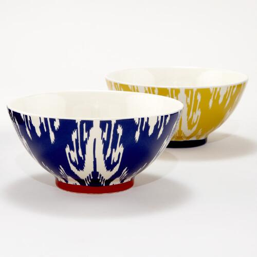 Ikat Bowls, Set of 2
