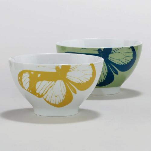 Butterfly Bowls, Set of 2