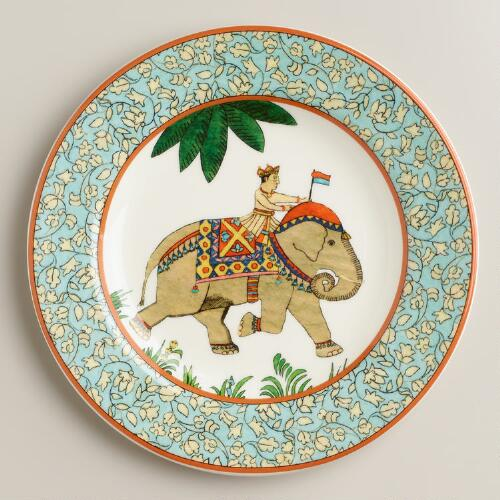Voyage Elephant Plates, Set of 2
