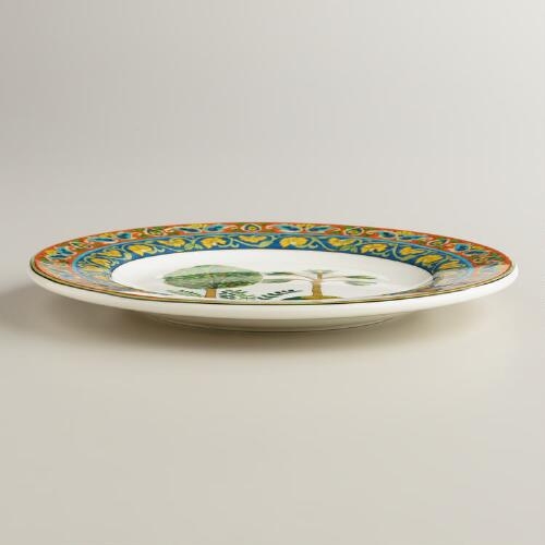 Voyage Peacock Plates, Set of 2