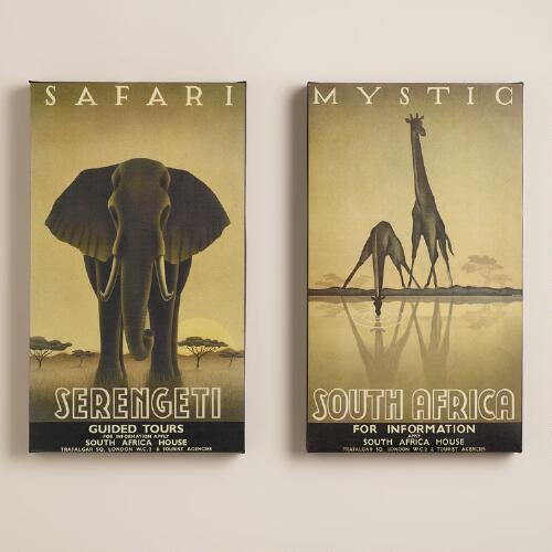 Mystic Safari Gallery Wrap, Set of 2