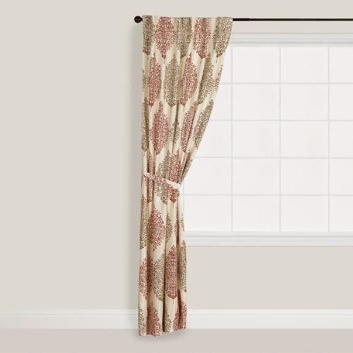 Rust Kashvi Flower Curtain