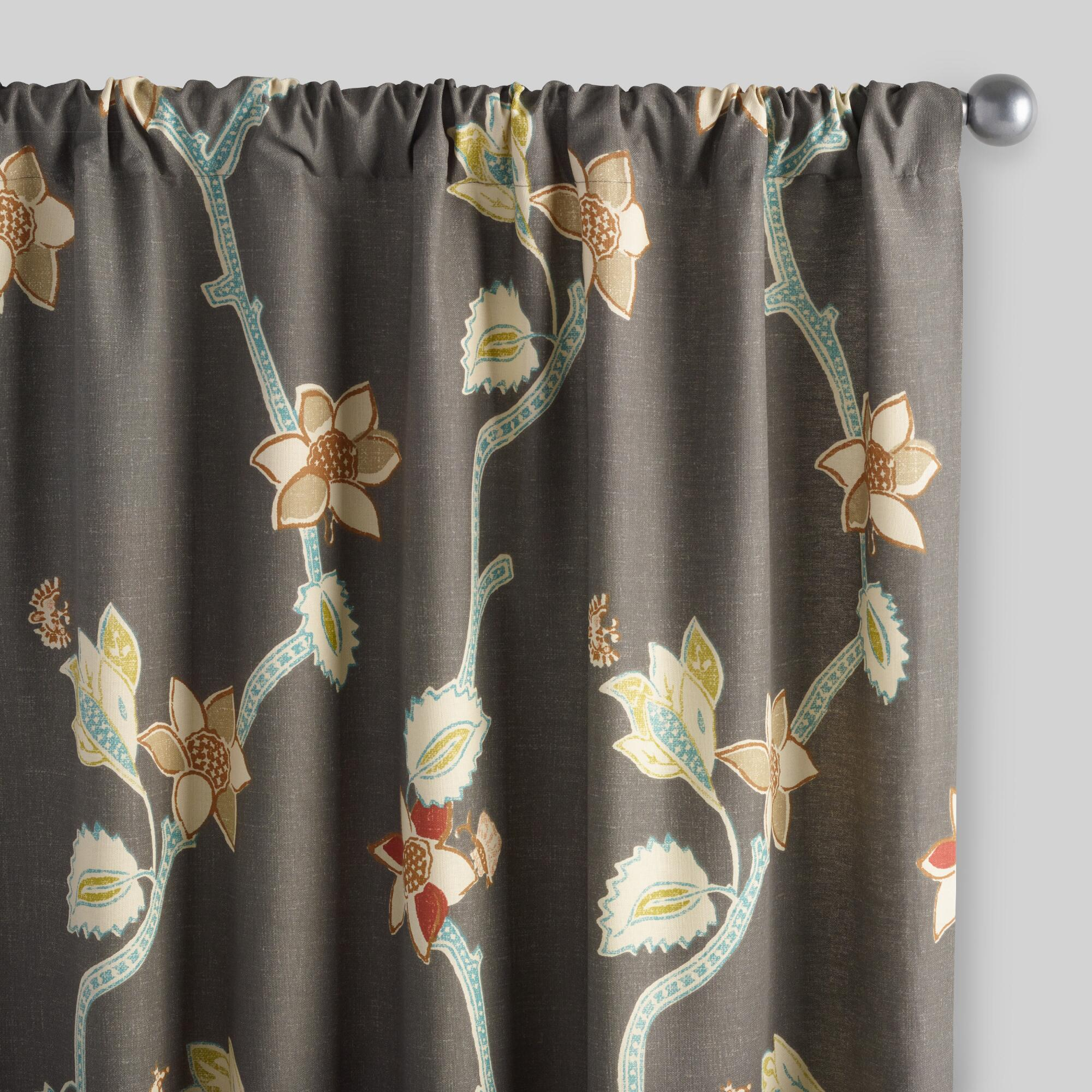 World Bazar: Bird Of Paradise Pakshi Curtains, Set Of 2