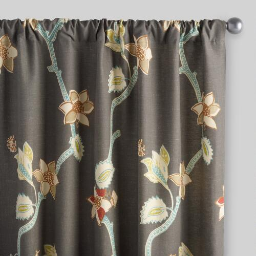 Bird of Paradise Pakshi Curtains, Set of 2