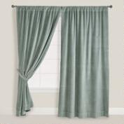 Slate Green Velvet Curtain
