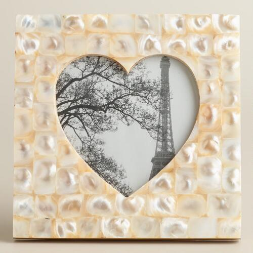 Mother of Pearl Heart Tabletop Frame