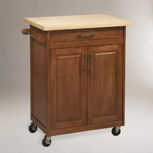 Walnut Pierce Kitchen Cart