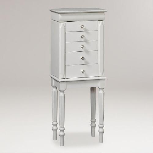 White Carin Jewelry Armoire