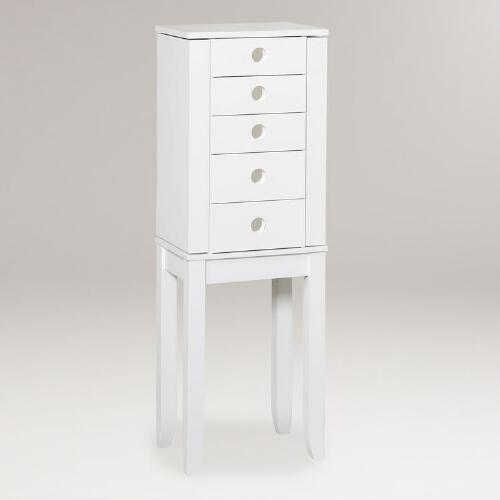 White Jackie Jewelry Armoire