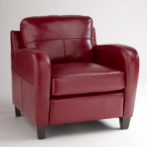 Red Leather Mason Chair