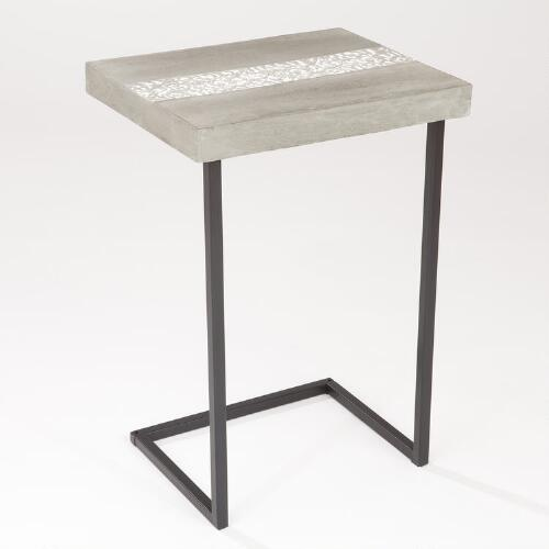 Embossed Cement Laptop Table