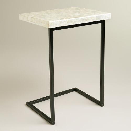Capiz Shell Laptop Table