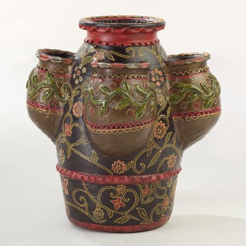 Terracotta Basanti Strawberry Pot