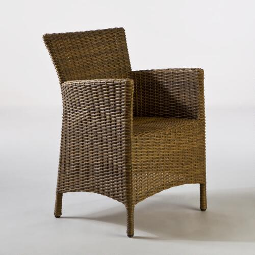 Honey Solano All-Weather Wicker Arm Chair
