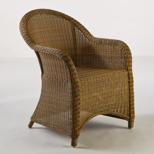 Honey Catalina All-Weather Wicker Tub Chair