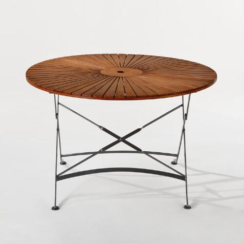 Wood & Metal Round Table
