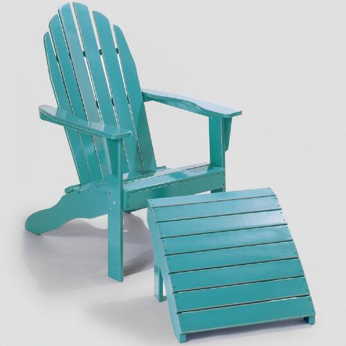Pagoda Blue Adirondack Chair