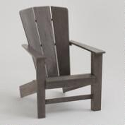 Gray Coastal Adirondack Chair