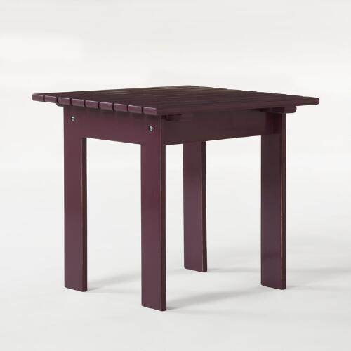 Violet Classic Adirondack Side Table
