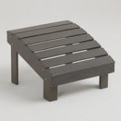 Gray Coastal Adirondack Stool