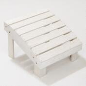 Cove White Coastal Adirondack Stool