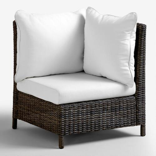 All-Weather Wicker Solano Sectional Armchair