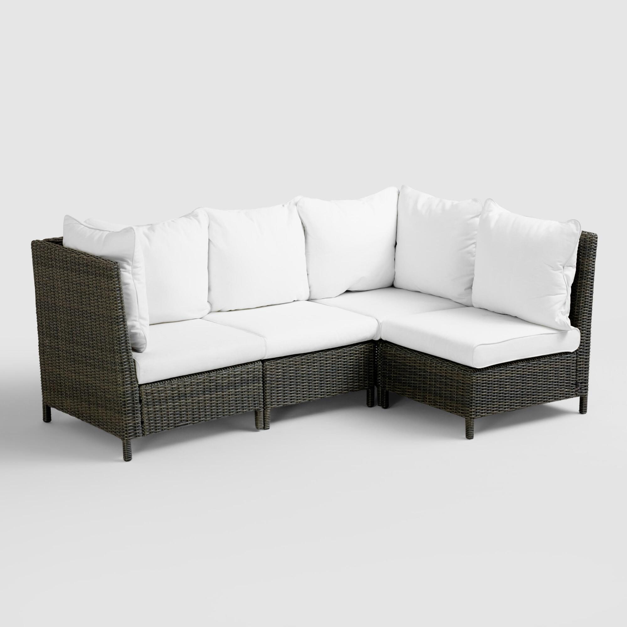 Solano outdoor sectional collection world market for Sectional sofas for outdoor
