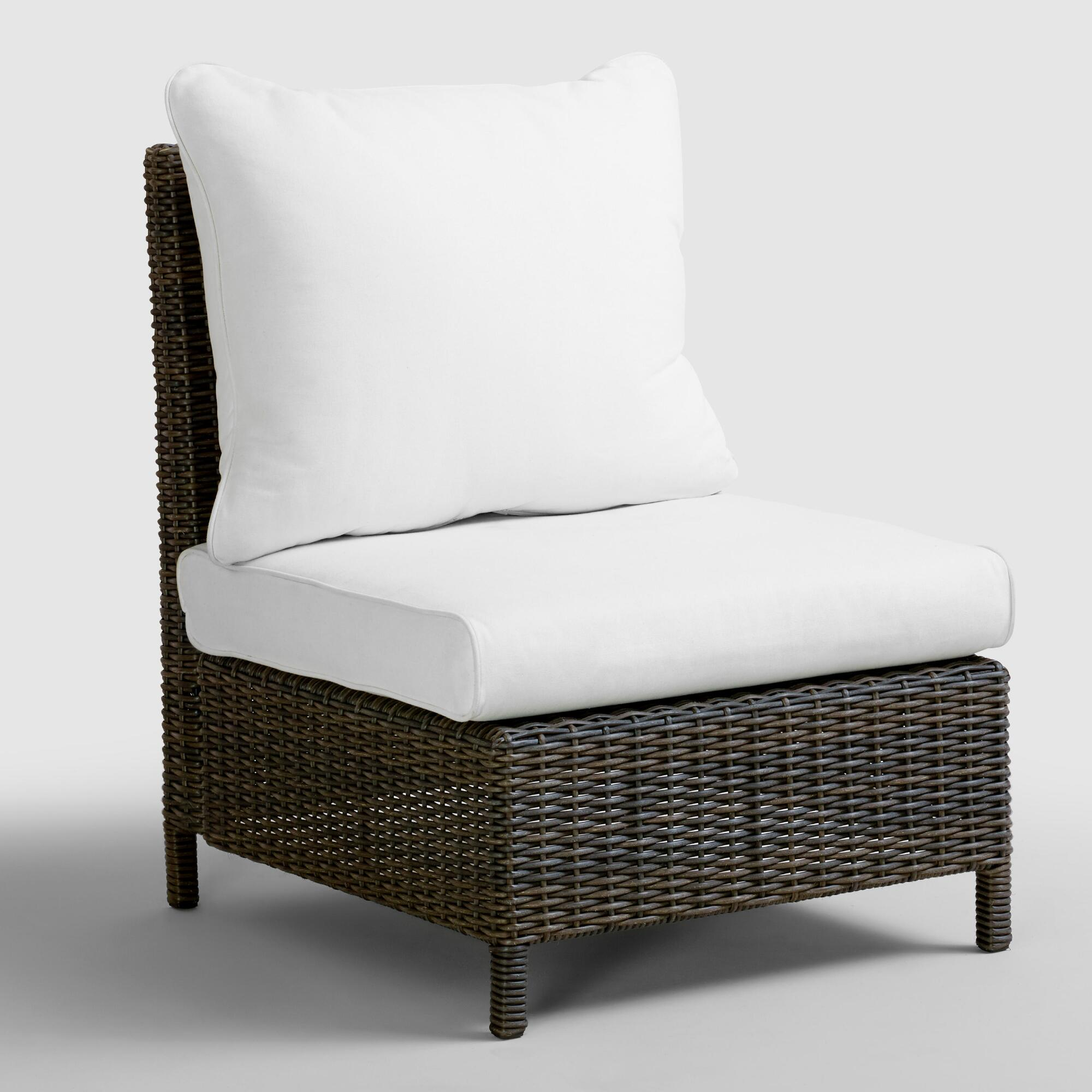 all weather wicker solano sectional armless chair world market. Black Bedroom Furniture Sets. Home Design Ideas