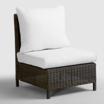 All-Weather Wicker Solano Sectional Armless Chair
