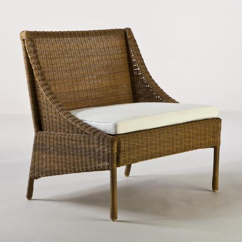 Catalina Honey All-Weather Wicker Slipper Chair