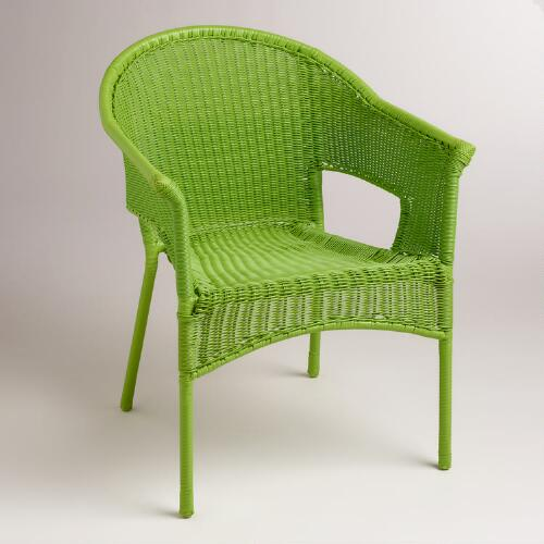 Apple Green All-Weather Wicker Tub Chair