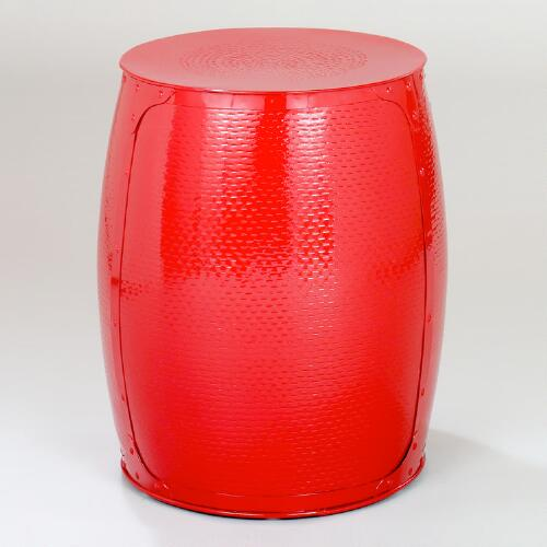Pomegranate Red Drum Stool